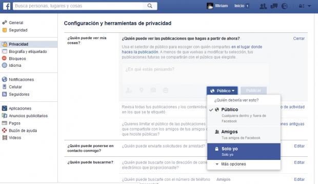 Privacidad facebook 1