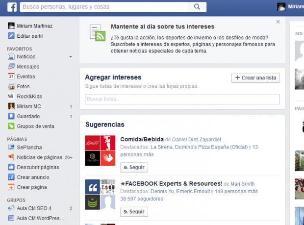 trucos perfil Facebook